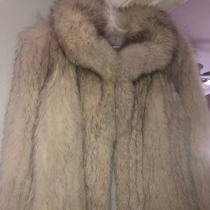 Saga Fox REAL Fur Coat size Large